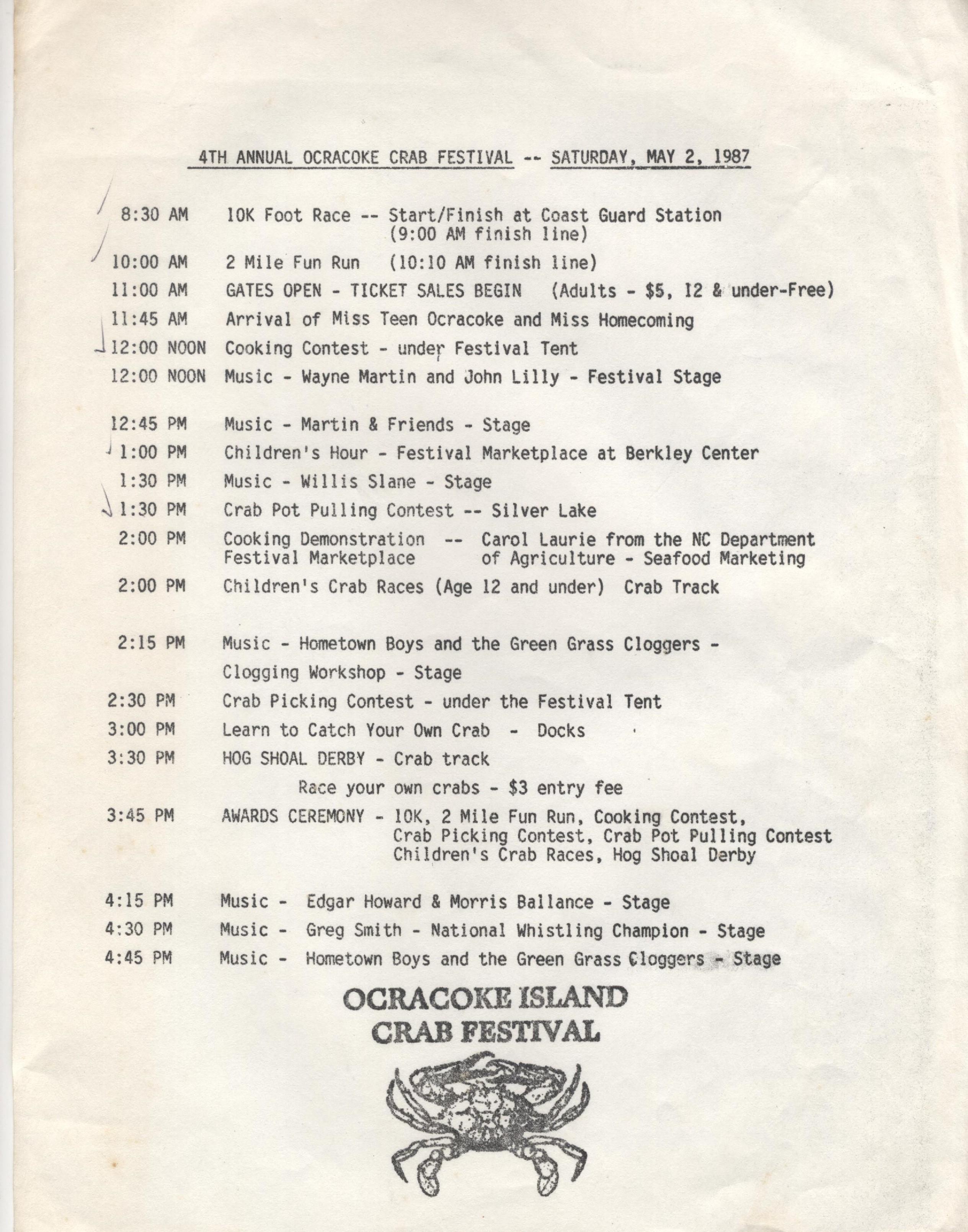1987 Schedule