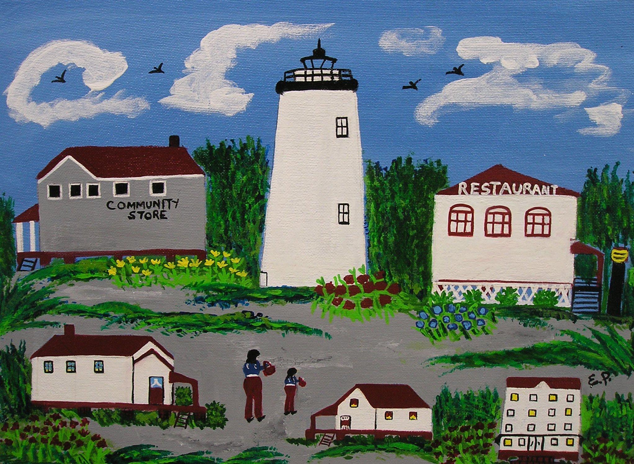 Elizabeth Parsons' Village Painting