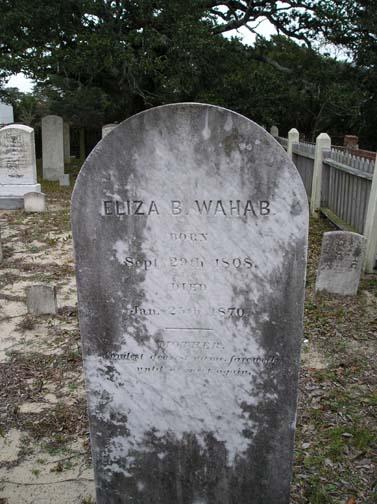Eliza Wahab Tombstone