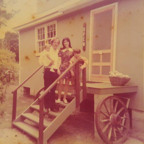 Philip, Julie, Stefen, & Amy Howard at Village Craftsmen, 1973