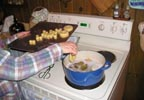 Julie Howard Cooking Doughnuts