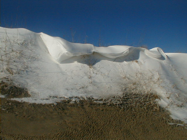 snow dune drift