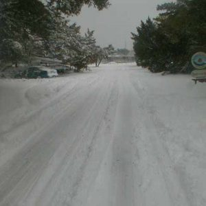 school road snow