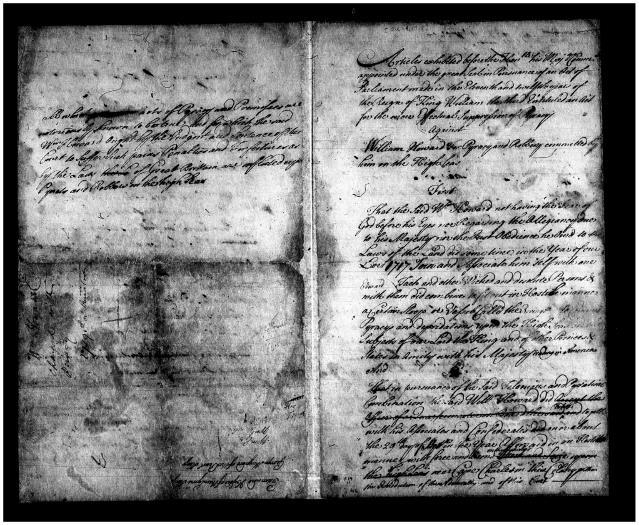 Indictment of William Howard, 1718