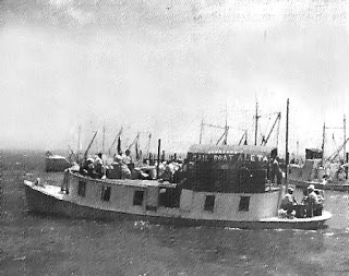 Mailboat Aleta venturing into Pamlico Sound
